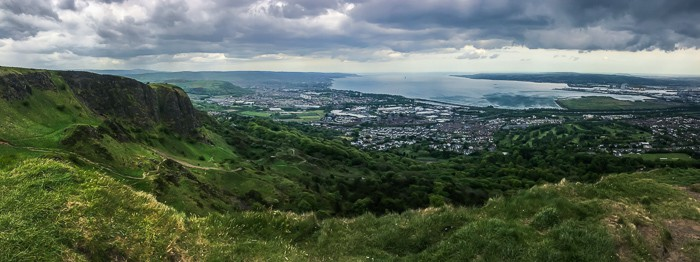 The view from Cave Hill over Belfast