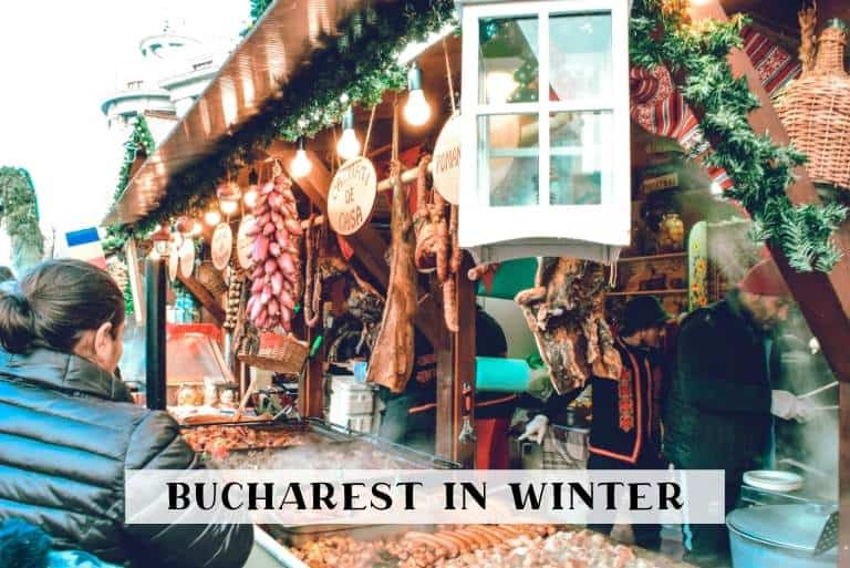 Bucharest in winter featured