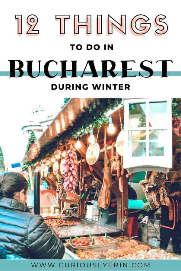 Bucharest in winter has so many things to do that you'll need to come prepared! Be impressed with the dramatic architecture and grand buildings and find out all about the Christmas markets in Bucharest. Click to find out the 12 top things to do in Bucharest in winter #bucharest #romania #europe #wintertravel