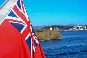 cayman islands flag and marina