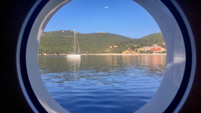 Views from the porthole of your cabin