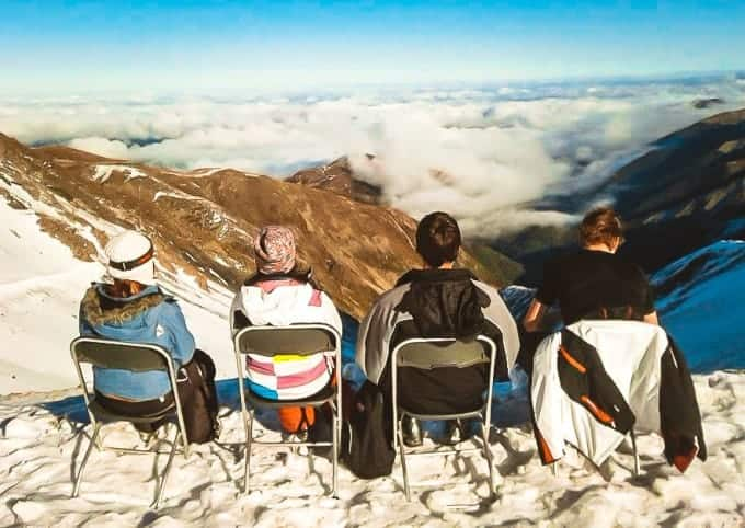 ski lunch break