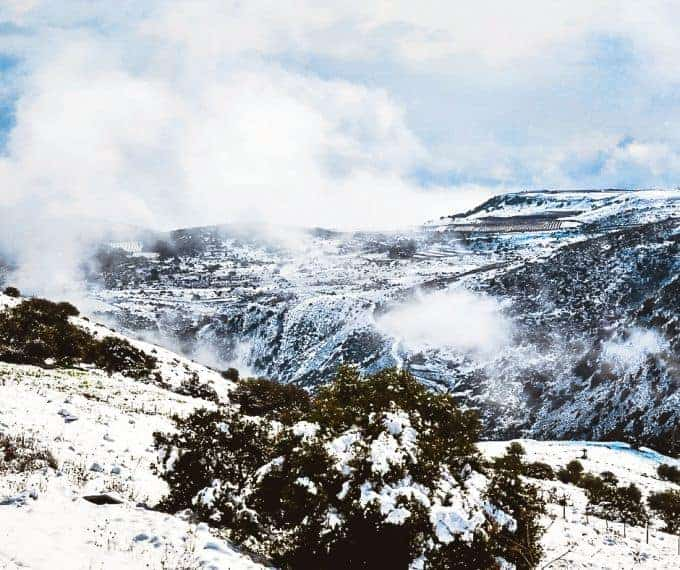 views from a ski resort in Australia