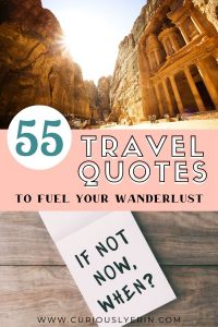 Travel quotes to live by and fuel your sense of wanderlust. Find the top quotes to hang in your room or office for inspiration and help saving for the next holiday. #travelquoteswanderlust #travelquotes #quotesaboutlove