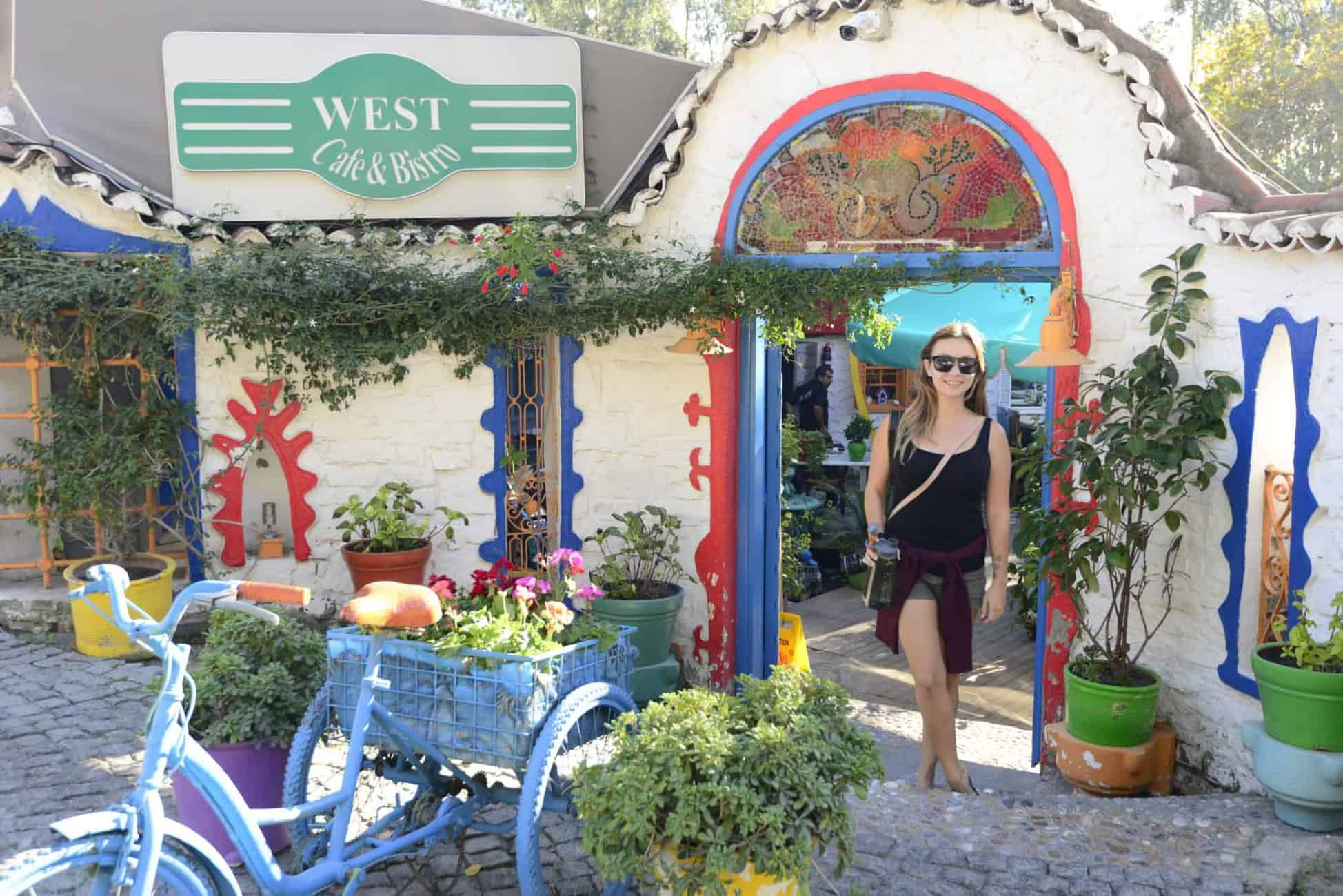 West Cafe and Bistro's funky entrance