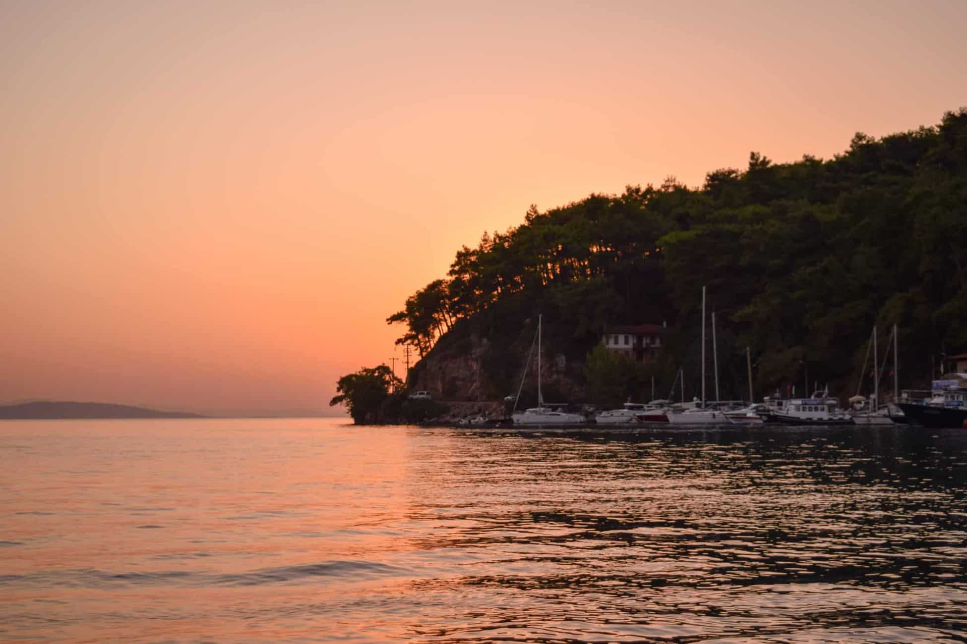 Sunsets at Akyaka Mahallesi waterfront