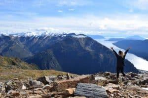 Summit of Mount Juneau in Alaska