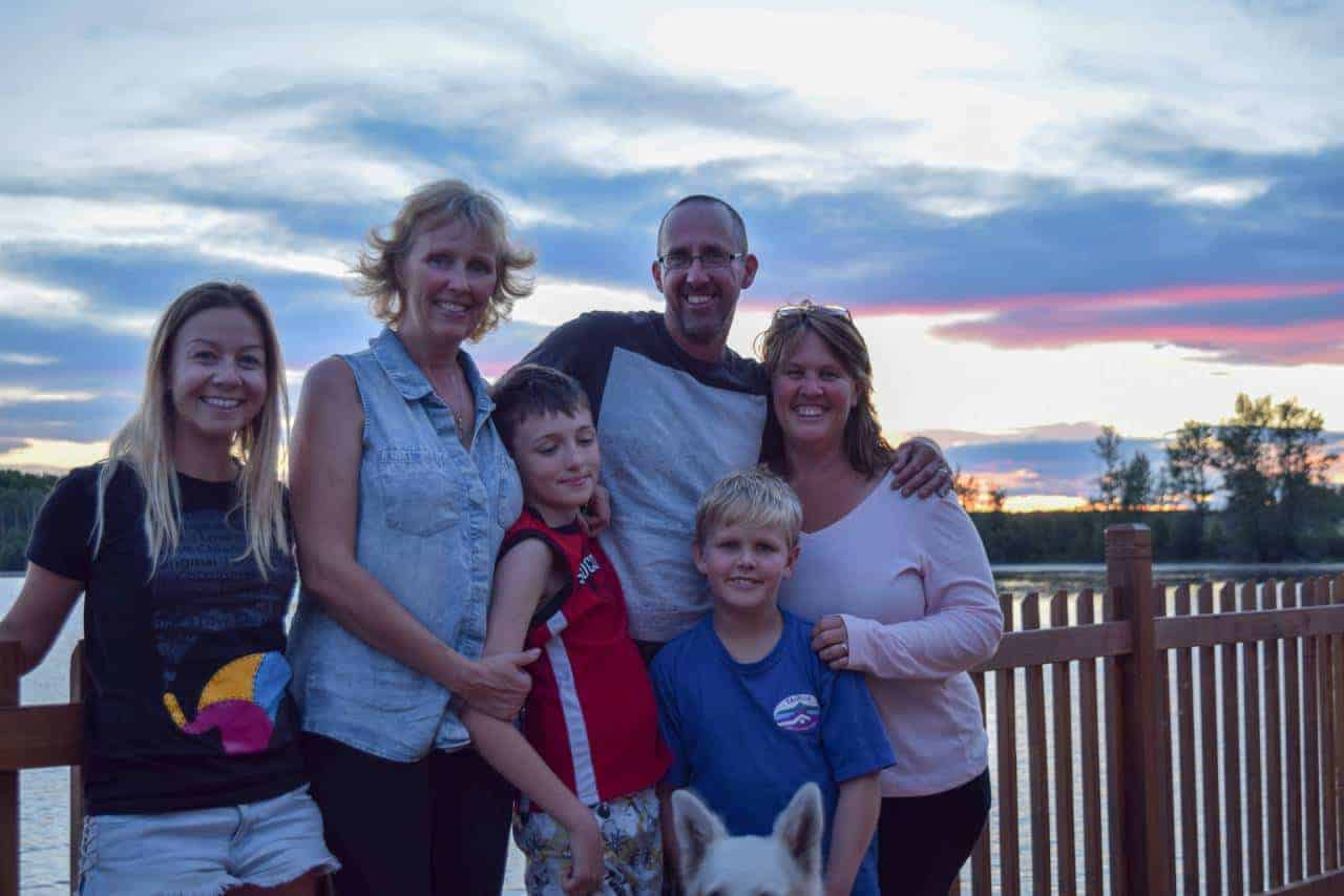 My Workaway family and other Workaways while in Canada