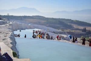 Visit Pamukkale - The Travertines where Tourists are allowed