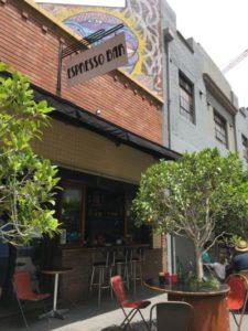 Image of exterior of Bank Corner espresso bar in Newcastle, NSW