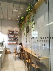Image of Mr. Sister entrance in best coffee in Newcastle, NSW post