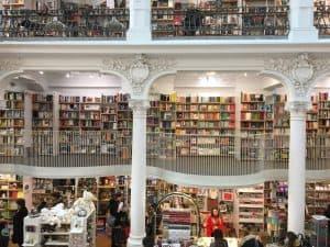 Beautiful bookstore in Bucharest Romania