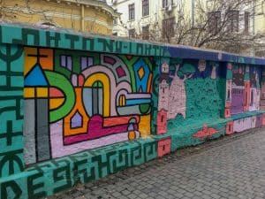 The street art scene in Bucharest Romania