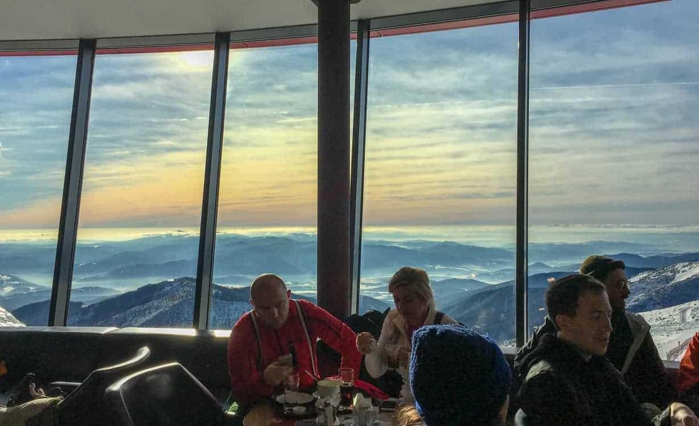 Beautiful views from the Rotunda restaurant at the top of Chopok Jasna
