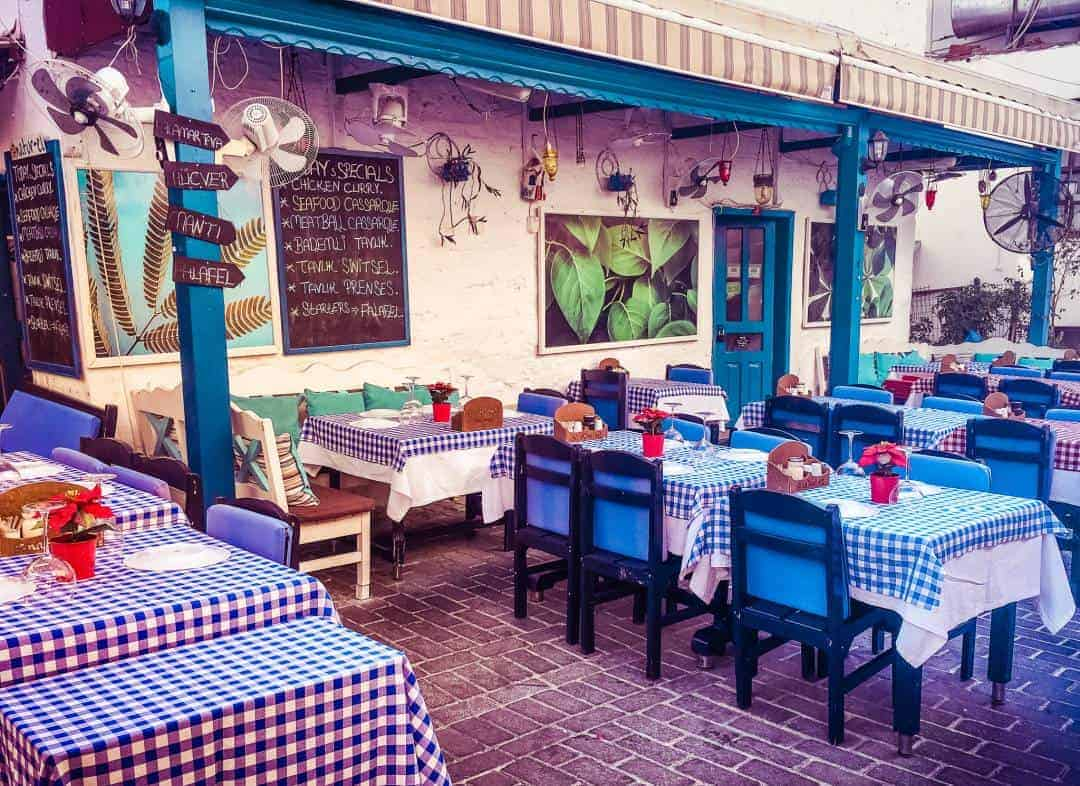 One of the beautiful cafes in Kas on the Turkish Riviera