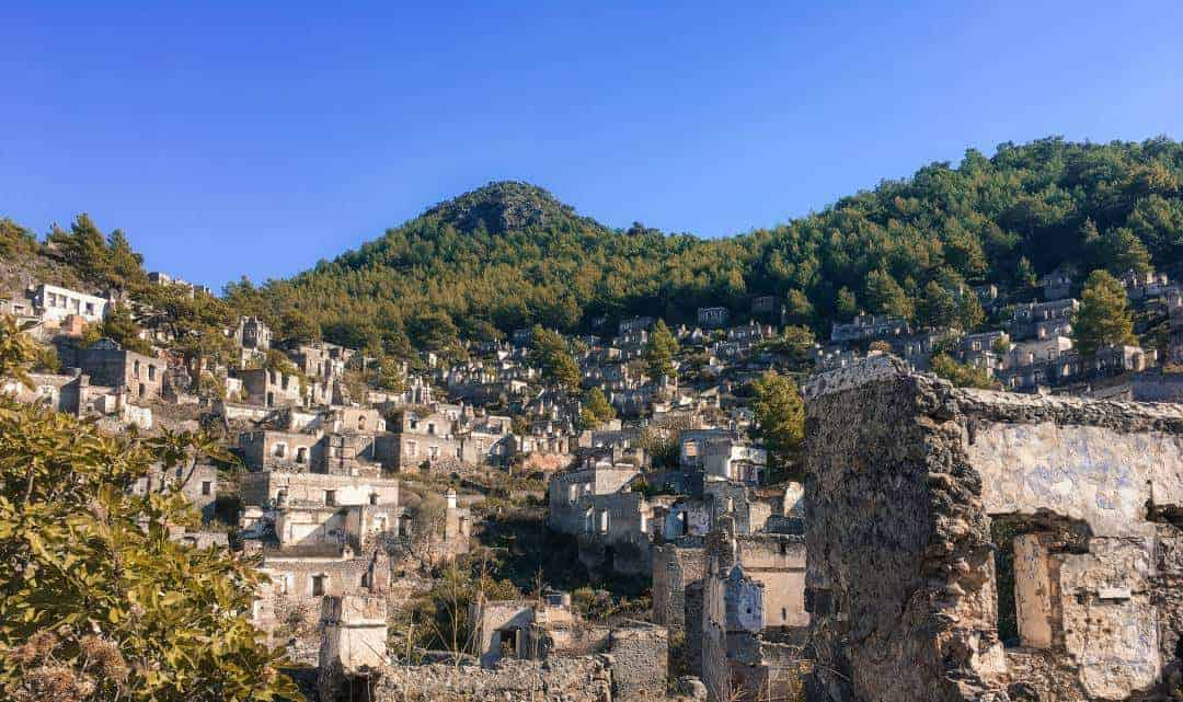The ghost town of Kayakoy inbetween Fethiye and Oludeniz