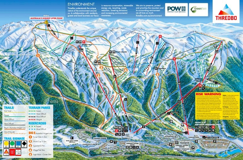 Thredbo Jobs Ski Resort Trail Map