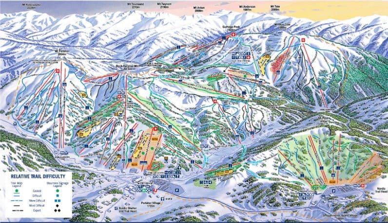 Perisher Jobs Ski Resort Trail Map