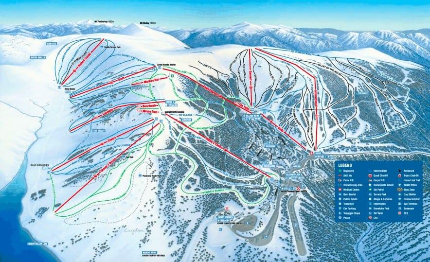 Falls Creek Jobs Ski Resort Trail Map