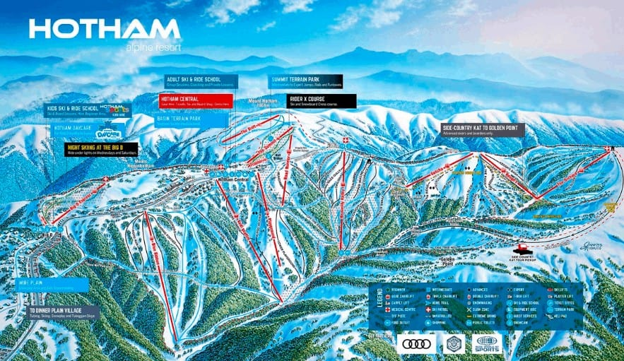 Mt Hotham Trail Map