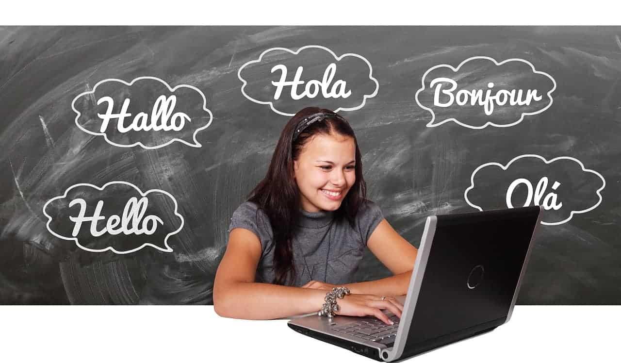 Teaching English online student
