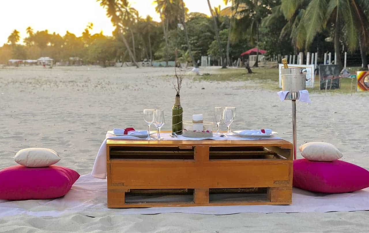 Creating a beautiful Beach Setup is one of the superyacht stewardesses jobs