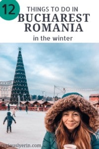 Are you looking for the perfect European Winter Getaway? Bucharest Romania is full of winter activities and has the most beautifully impressive Christmas decorations and markets. Make sure you read my top 12 things to do in the city during the winter. #Bucharest #Romania #Travel #winterholidays
