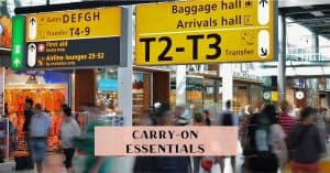 Carry on items to travel with