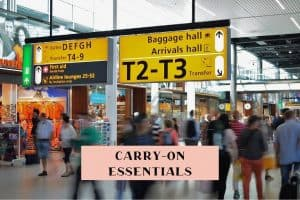 Carry-on essential items