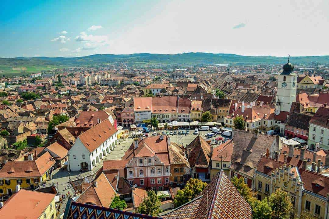Overview of beautiful Sibiu