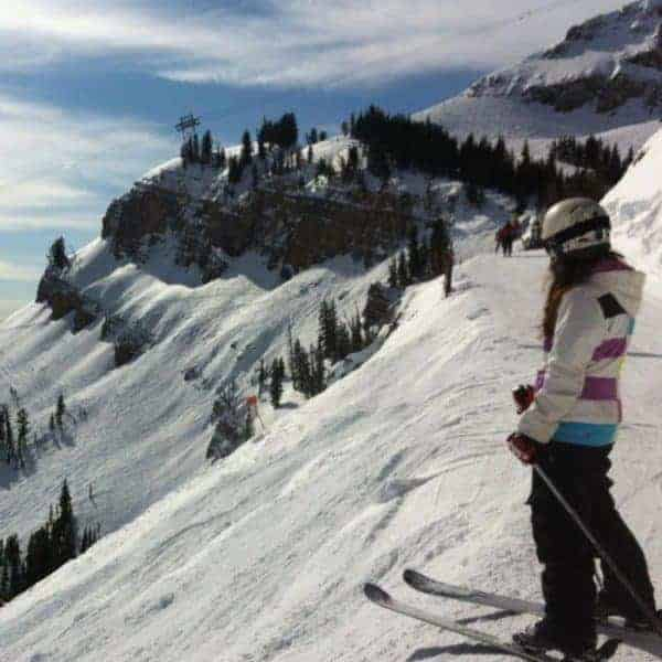 Image of Erin taking a ski trip to Jackson Hole in Wyoming