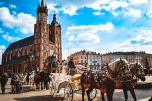 Famous Carriages in Krakow Poland