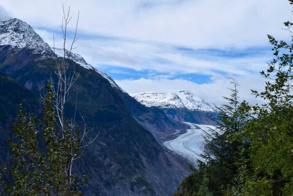 Beautiful glacier viewpoints in Alaska