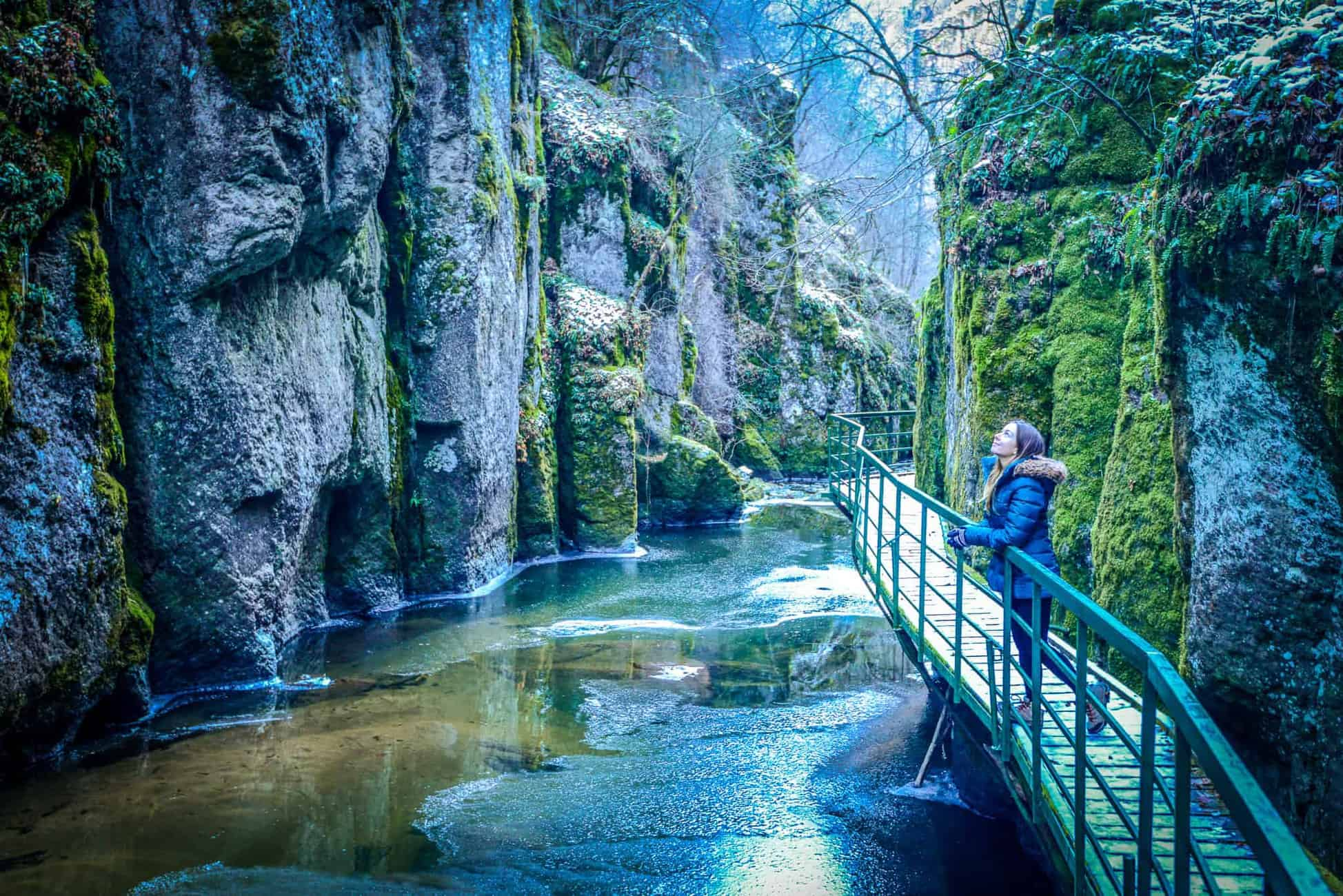Hiking through gorges in Smolyan Bulgaria. Travel to Devin to find this place.