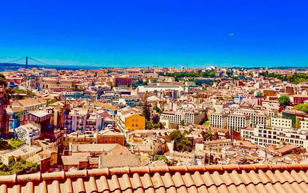 Lisbon Cityscape by Christen at Travel Wander Grow