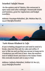 Istanbul ebook page: restaurants