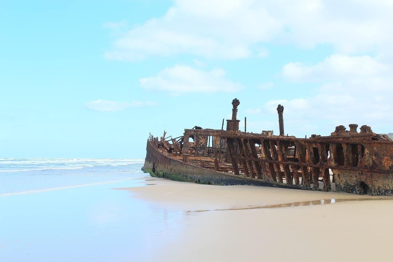 Shipwrecks on Fraser Island
