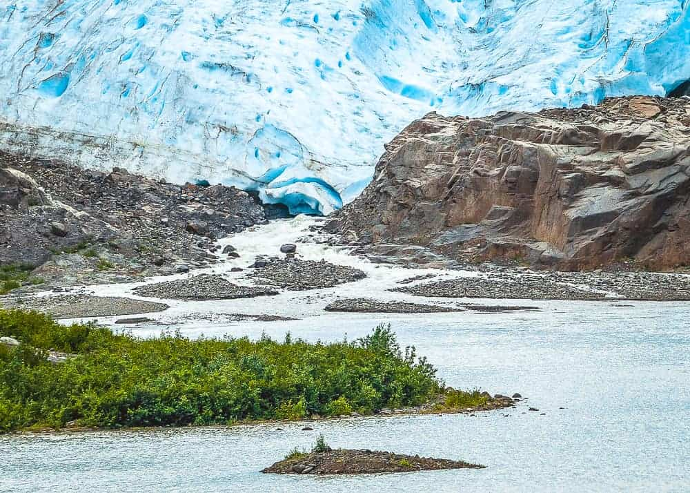 Toe of the Glacier Alaska