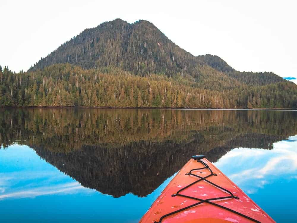 Kayaking in Prince Rupert on glassy waters