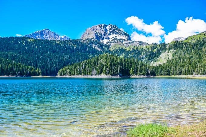 The black lake in Durmitor National Park Montenegro