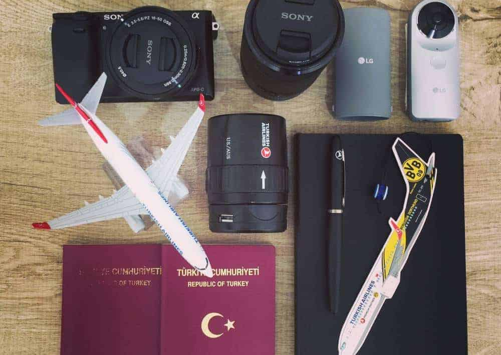 electronics flat-lay best travel accessories for europe