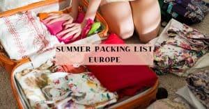 ladies European packing ideas