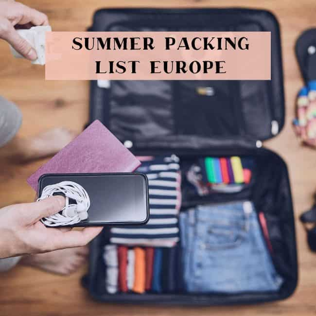 summer packing list europe