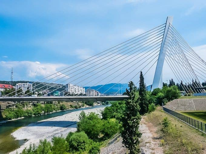 Podgorica most famous for its bridge