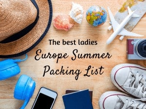 Europe summer packing list featured image