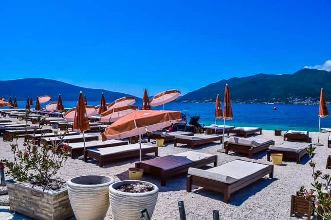 Waikiki Beach in Tivat