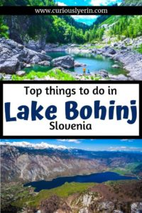 Make sure you add Lake Bohinj to your travel itinerary for Slovenia. This beautiful lake is full of things to do on or nearby. Close to Lake Bled and Ljubljana you can visit in a day or stay for a week. Here are the top things to do in Bohinj that you cannot miss. #travelslovenia #lakebohinj #bohinjslovenia