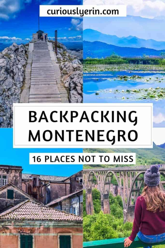 Montenegro is a super diverse Balkan country. Find out which 16 places you should visit in Montenegro. Whether you are looking for Montenegro's best beaches, Montenegro's National Parks or the other small rural towns. This list is perfect for backpacking Montenegro inspiration #montenegro #backpacking #europetravel #budgetdestinations