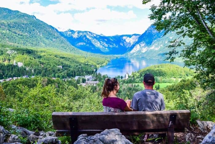 The best viewpoint in Lake Bohinj Slovenia