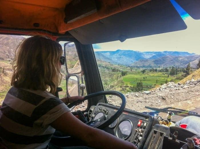 Driving the overlanding trucks
